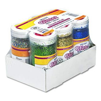 Pacon Spectra Glitter Sparkling Crystals, Assorted Colors, 4-Ounce