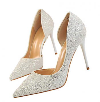 Dress First Pointed Glitter Pumps