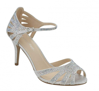City Classified Comfort Strappy Rhinestone Sandals