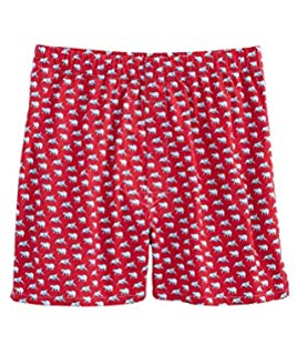 Vineyard Vines Men's Bull & Bear Boxers Red Velvet