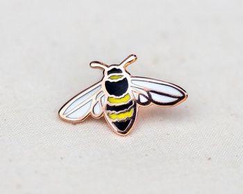 Wildship Studio Honey Bee Enamel Pin - Lapel Pin - Badge