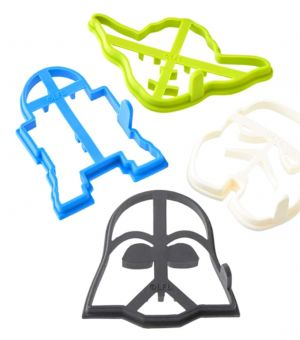 Williams-Sonoma Star Wars Movie Pancake Molds Made of Non-Stick Silicone - Set of 4 Includes Yoda, Stormtrooper, Darth Vader, R2-D2