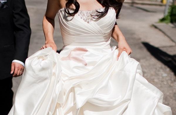 wedding dress stain