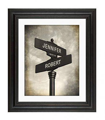Lovers Crossroads - Personalized Wedding or Anniversary Print