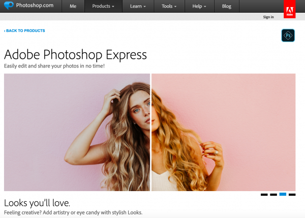 adobe photoshp express