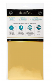 "iCraft Deco Foil Transfer Sheets, 6"" x 12"", Gold, 20 Piece"