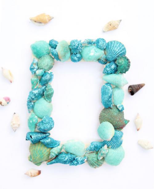 Glitter Sea Shell Picture Frame