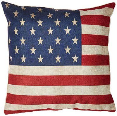 1776 Throw Pillow Darice Patriotic Est 14 x 14 inches w