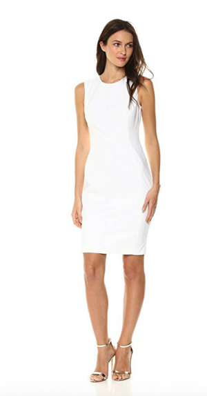 Calvin Klein Women's Cotton-Blend Sheath Dress