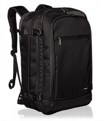AmazonBasics Carry-On Travel Backpack, Black by AmazonBasics
