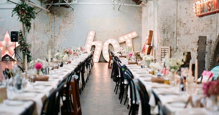 cool wedding reception