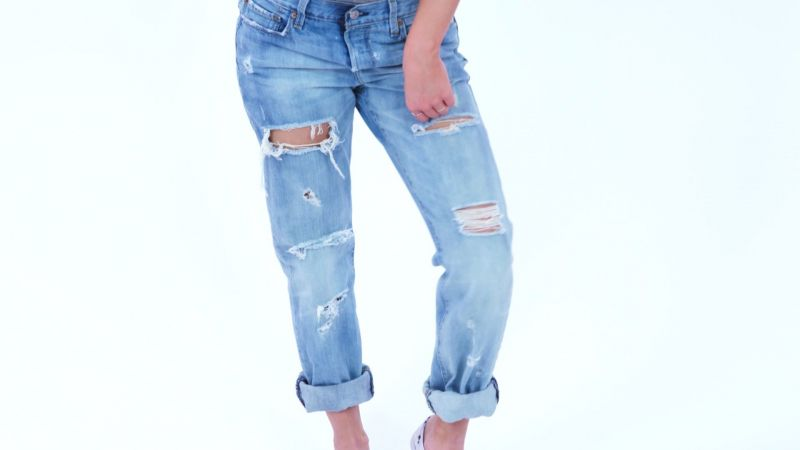 distress jeans tutorial