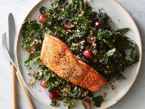 kale beat salmon