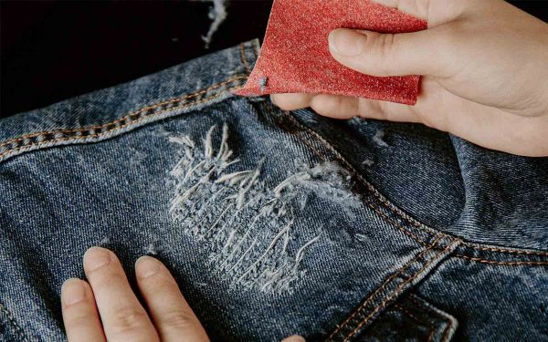 sandpaper jeans