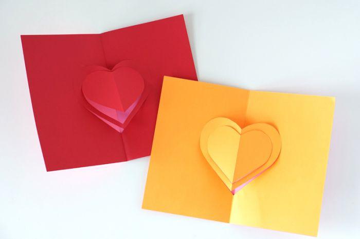 DIY pop up card for Valentine