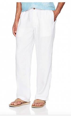 Amazon Brand - 28 Palms Men's Relaxed-Fit 100% Linen Pant with Drawstring