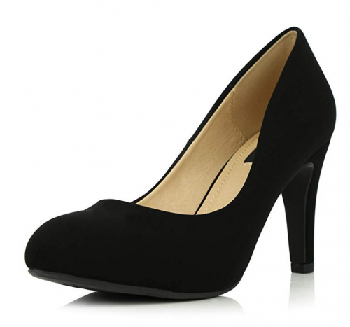 3. DailyShoes Round Toe Pumps