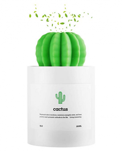 desk accessories: cute cactus humidifier
