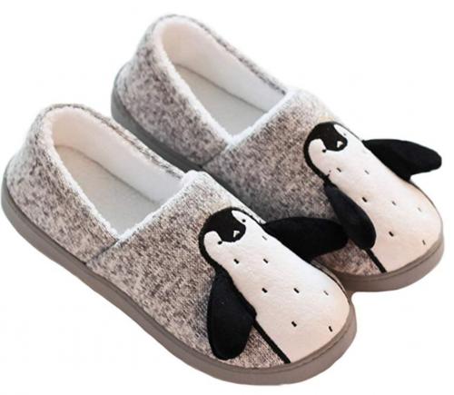 penguin themed slippers