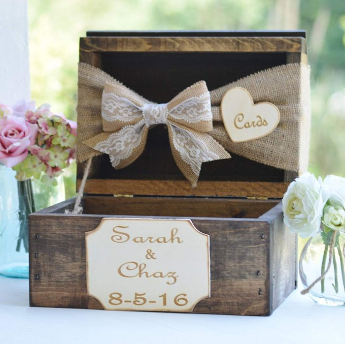 Wedding card box cigar box