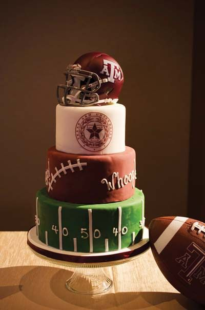 Groom's cake ideas: Multi-Sport College Football Cake