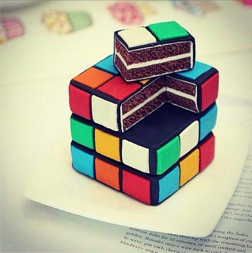 Rubik's Cube Groom's Cake