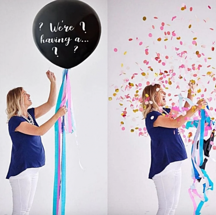 Confetti Balloon Gender Reveal ideas