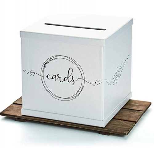 Hayley Cherie - Silvery White Gift Card Box