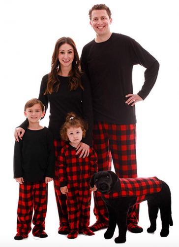 #followme Matching Buffalo Plaid Pajamas for Family