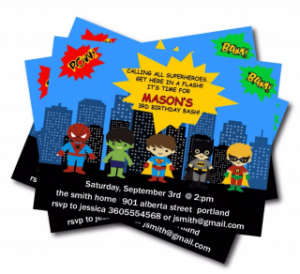 superheroes kids birthday party