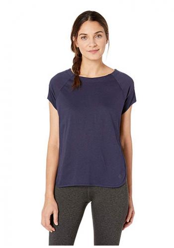 Satva Premium Organic Cotton T-Shirt Scoop Neck Short Sleeve with Mesh Pav Tee