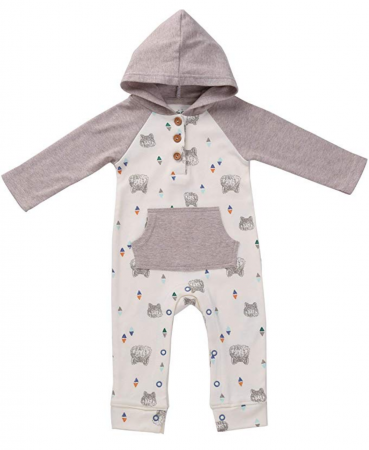 Asher & Olivia Baby Romper Hooded Baby Boy Jumpsuit