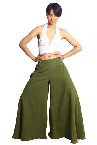 Tropic Bliss Women's Wide Leg Organic Cotton Palazzo Pants