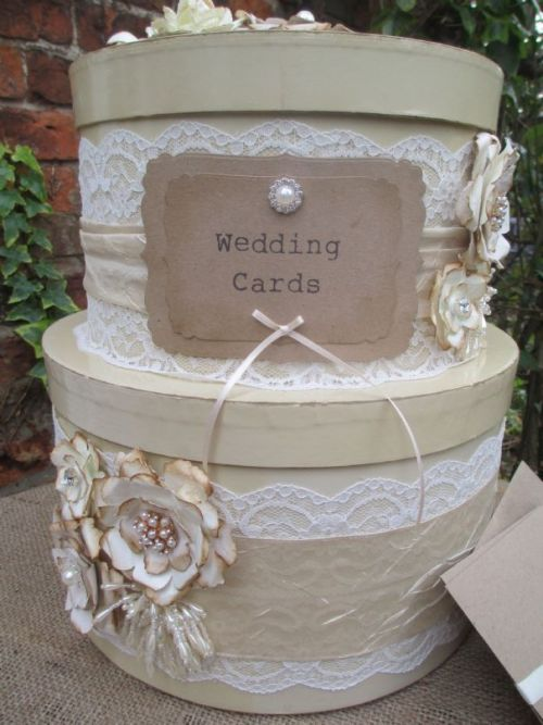 DIY wedding card box ideas stacked hat boxes