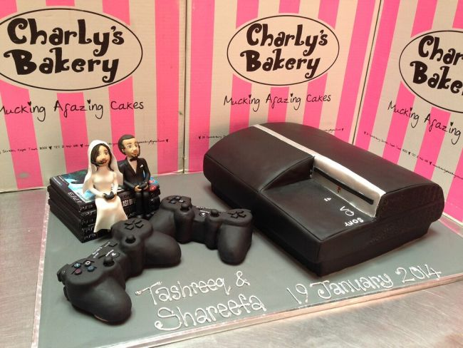 Video Game Console Cake