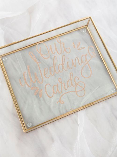 Wedding Card box Open Platter