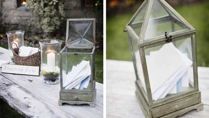Wedding card box ideas Rustic Lantern