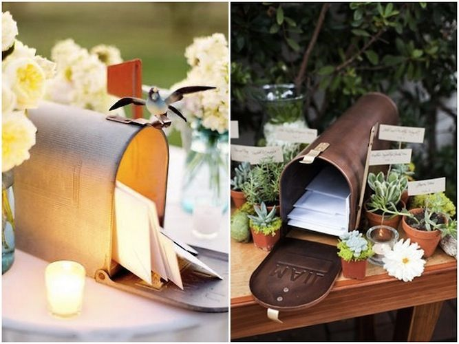 Wedding card box mailbox