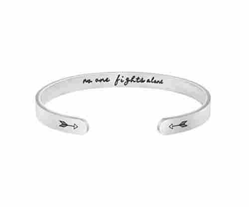 Personalized Mantra Cuff Bangle