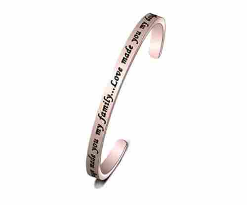 'Marriage Made You Family/Love Made You My Daughter' Bracelet