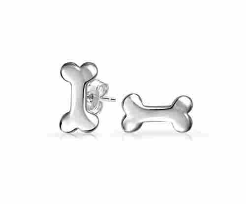 Minimalist Dog Bone Stud Earrings