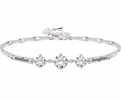 Mother Daughter Cubic Zirconia Bracelet