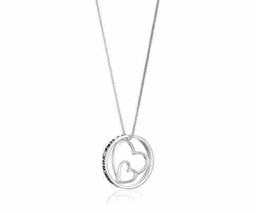 Sterling Silver Double-Heart 'Aunts Like You' Necklace