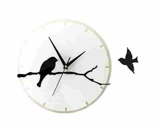 3D Acrylic Bird Quartz Wall Clock