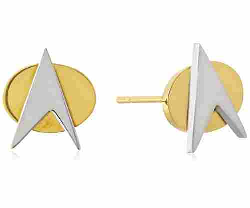 Star Trek Stainless Steel Stud Earrings