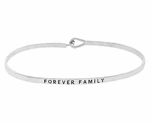 'Forever Family' Thin Brass Bangle