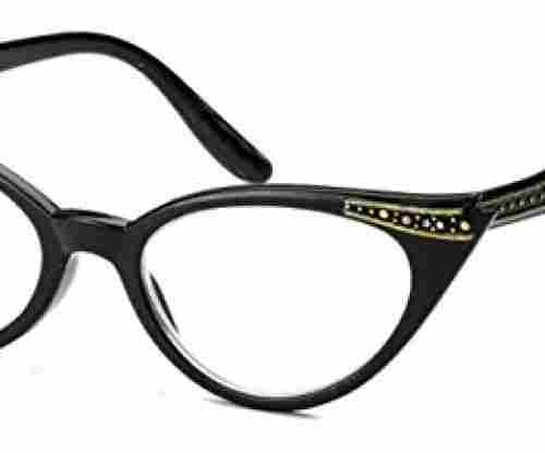 Cateye High Pointed Eyeglasses or Sunglasses