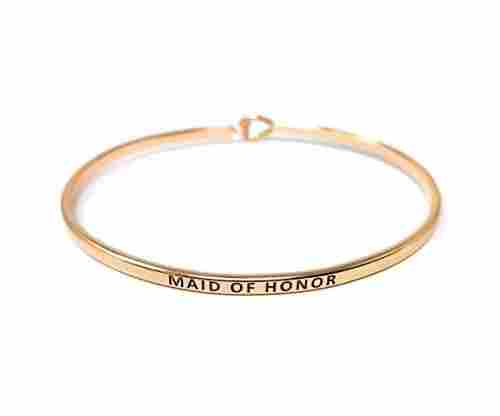 "Inspirational ""Maid of Honor"" Bracelet"