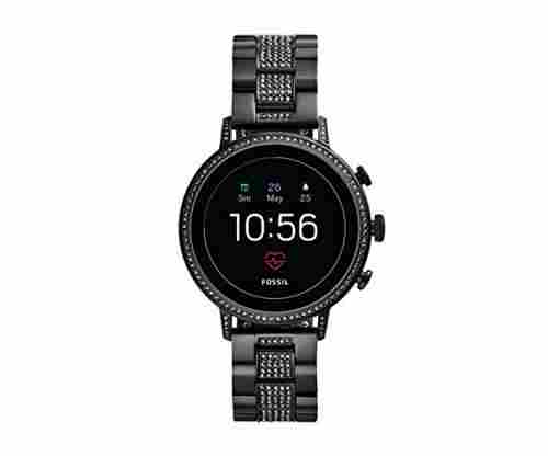 Fossil Women's Gen 4 Venture HR Heart Rate Stainless Steel Touchscreen Smartwatch