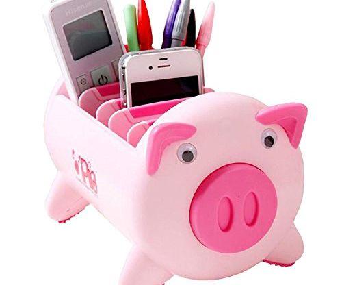 Pacii Creative Pigs Plastic Office Desktop Stationery Pencil Holder